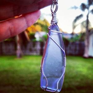 Purple/Blue Seaglass Necklace