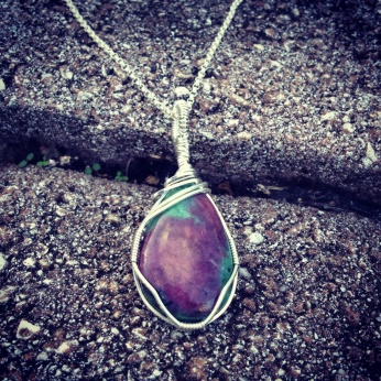 Natural Red Ruby in Zoisite Pendant