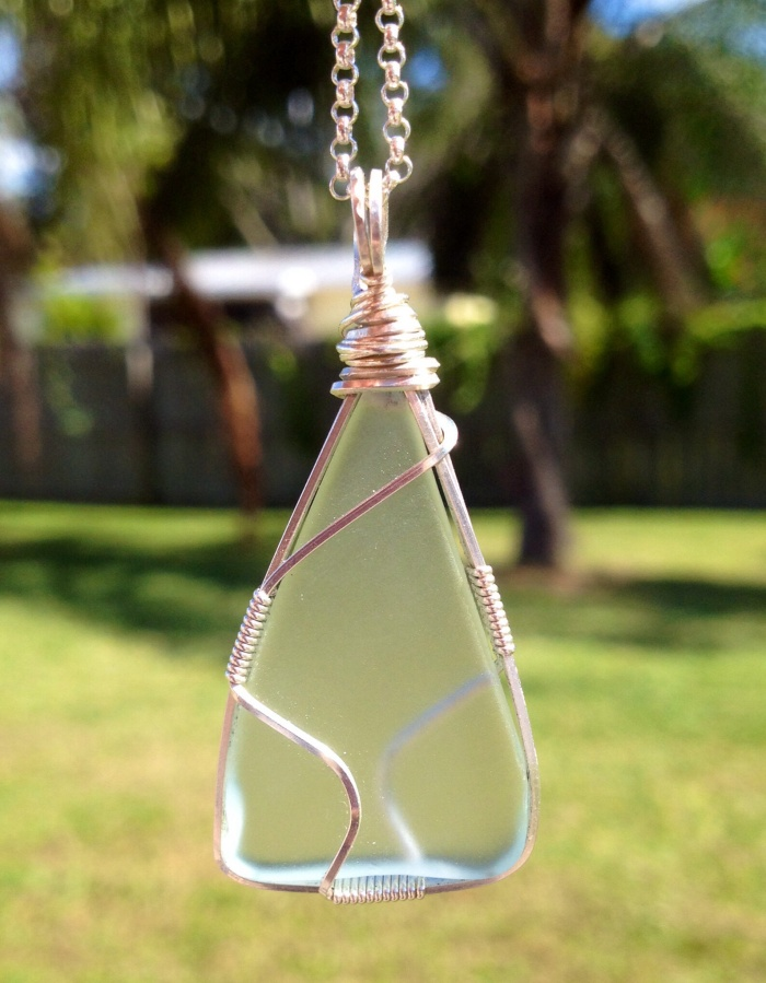 Wire Wrapped Seaglass