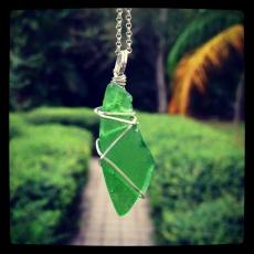 Green Seaglass Pendant