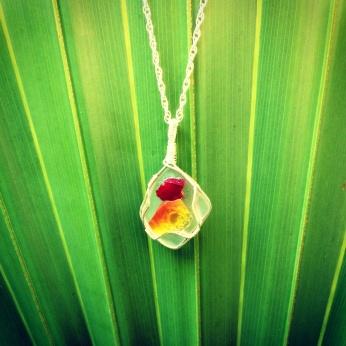Genuine Seaglass Mosaic Necklace